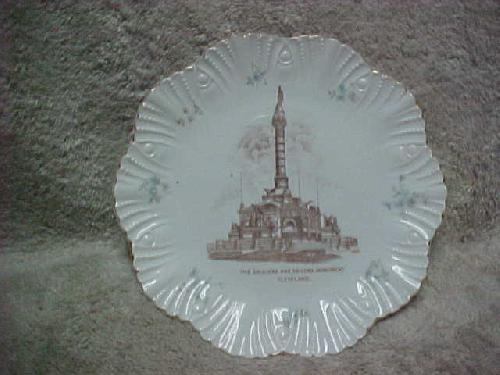 Cleveland OH Soldiers and Sailors Monument Souvenir Plate