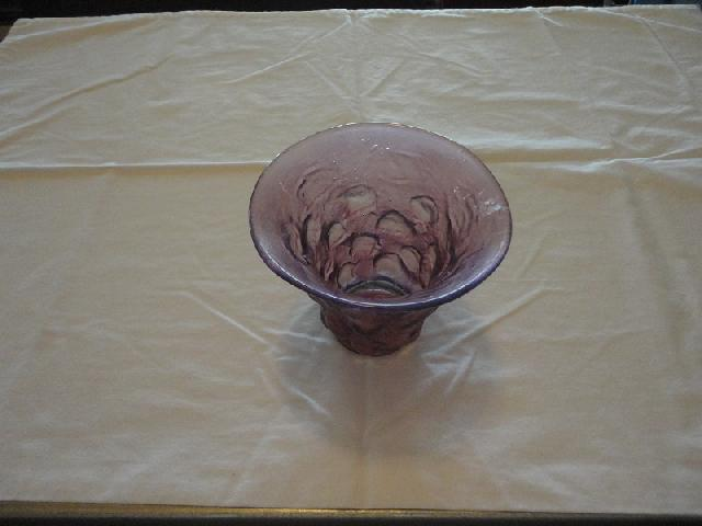 Consolidated Glass Spanish Knobs Amethyst Vase