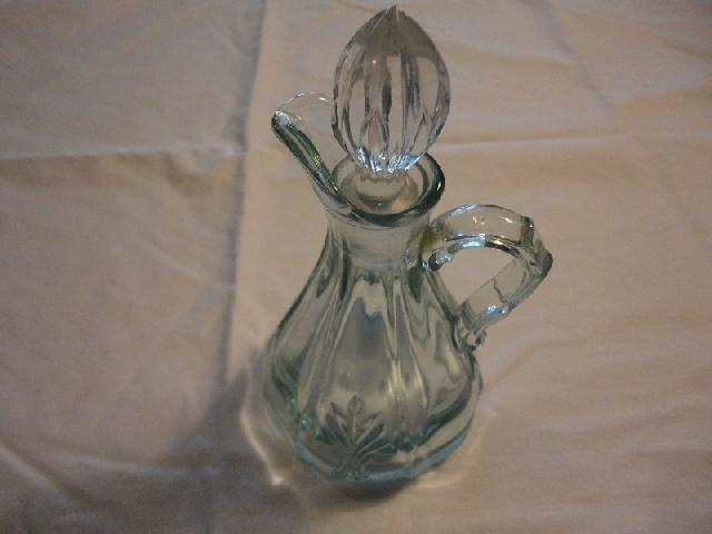 1938 Fostoria Azure Tint Baroque Oil Bottle
