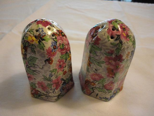 Lord Nelson Marina Chintz Salt and Pepper
