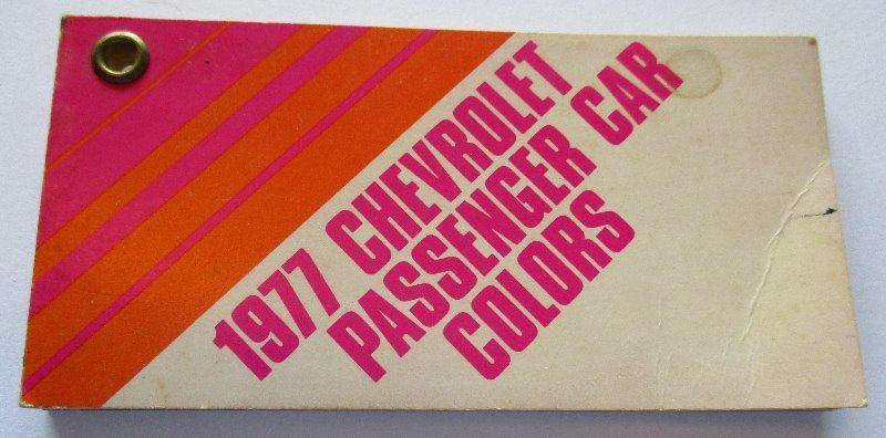 1977 Chevrolet Passenger Car Pocket Size Color Chart