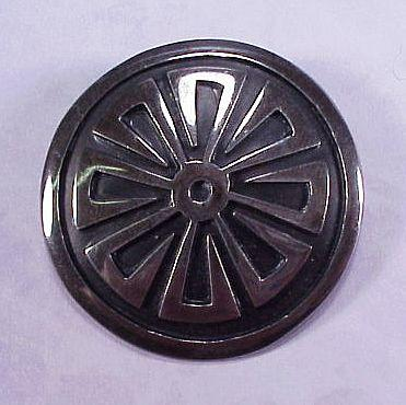 Mexican Sterling Silver Geometric Pin / Pendant