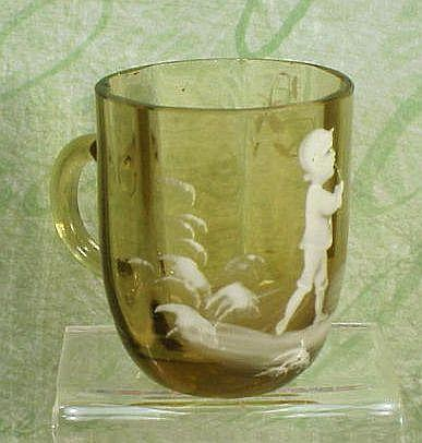 Mary Gregory Style Miniature Cup - 1 �� Tall