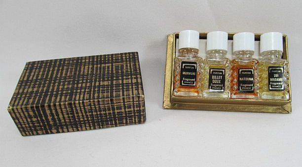 FRAGONARD French Perfume Bottle Set with Box