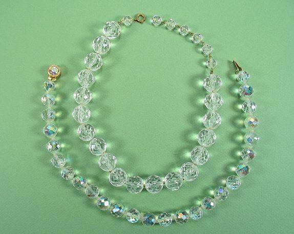 1950s Crystal Necklace Set of 2