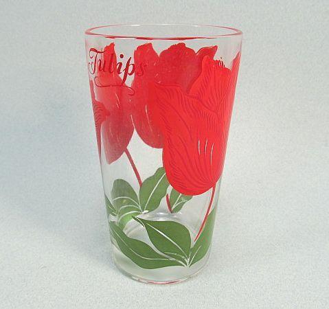 Boscul Peanut Butter Glass Tulips 1950s 5 inch