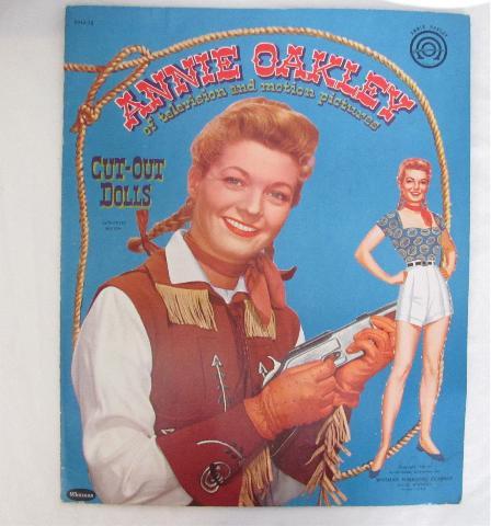 Annie Oakley Paper Doll - Whitman 1954 Original