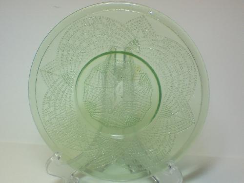 Green Depression Glass Plates