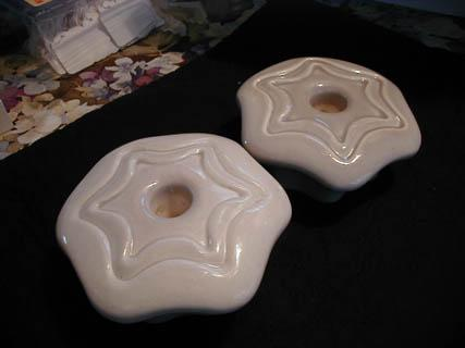 California Pottery Star Shaped Candleholders