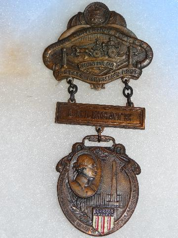 Chester, Penn. Firemans Convention Medal 1913