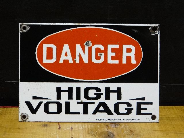 Porcelain Danger Electrical Sign
