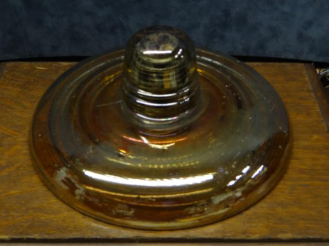 Carnival Glass Insulator by Pyrex
