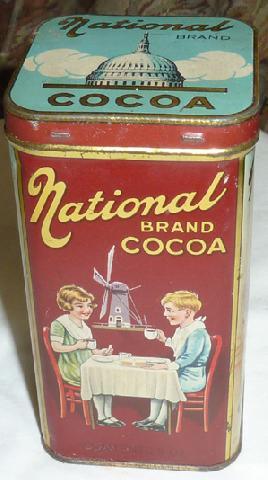 NATIONAL BRAND COCOA TIN Graphic