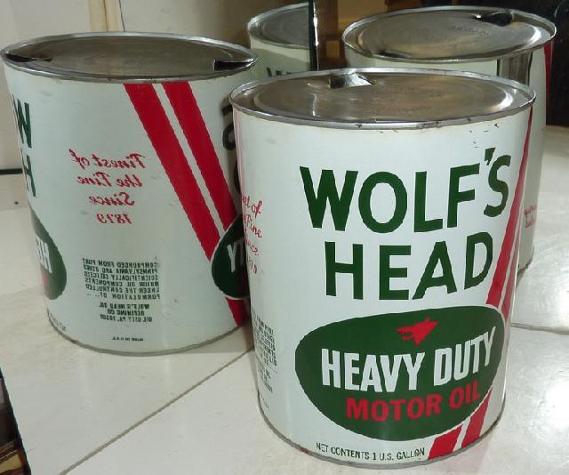 WOLF'S HEAD HEAVY DUTY MOTOR OIL 1 GALLON TIN
