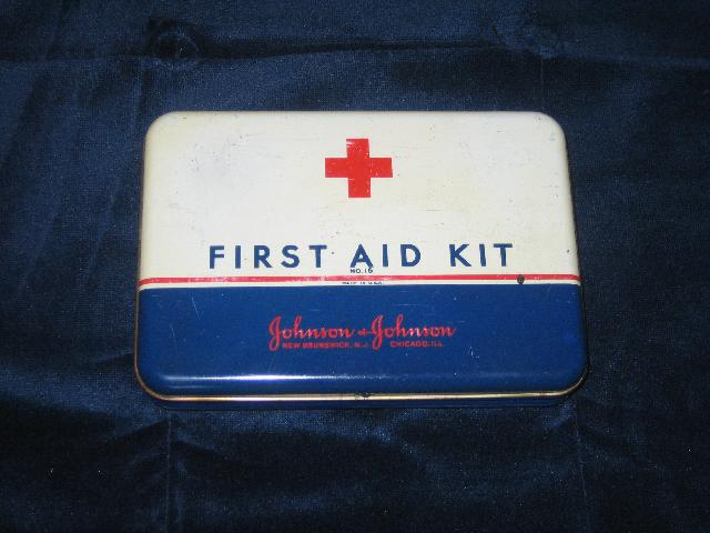 Johnson & Johnson tin First Aid Kit