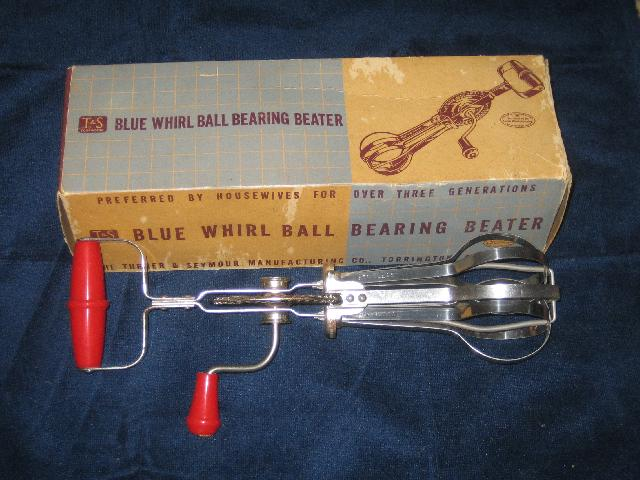 Blue Whirl Ball Bearing Beater with original box