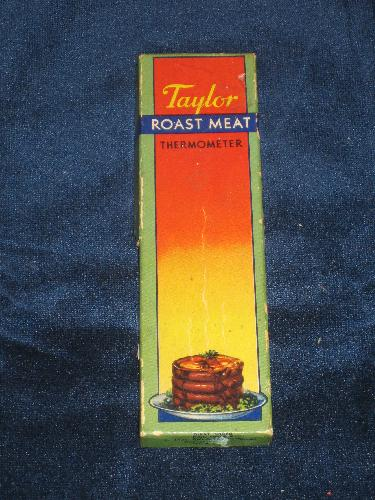 Taylor Roast Meat Thermometer with original box and instruct