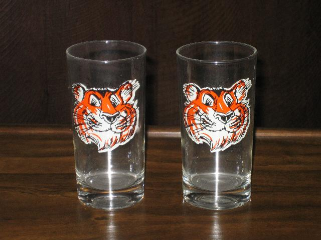 Esso Tiger glassware, the pair, vintage 1960s.