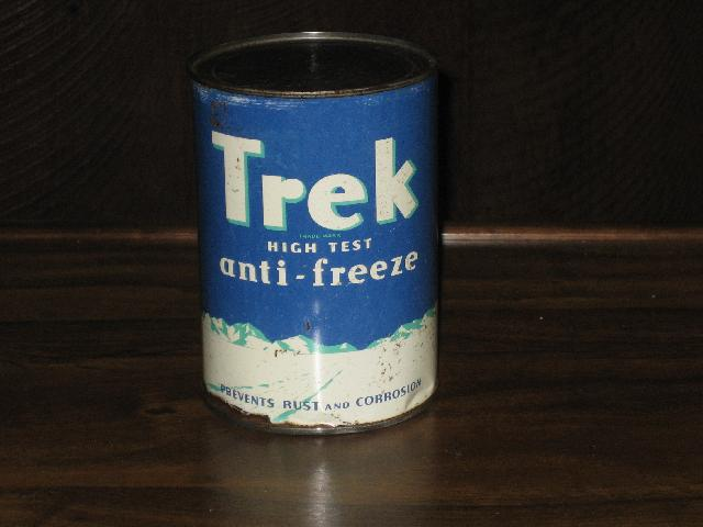 Trek Anti-Freeze quart can, FULL, dated 1939