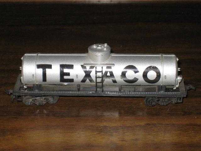 Texaco HO Scale Railroad Tanker Train Car, Hong Kong, 1960s