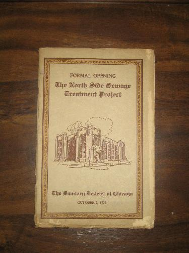 North Side Sewage Treatment Project, October 3, 1928 brochur
