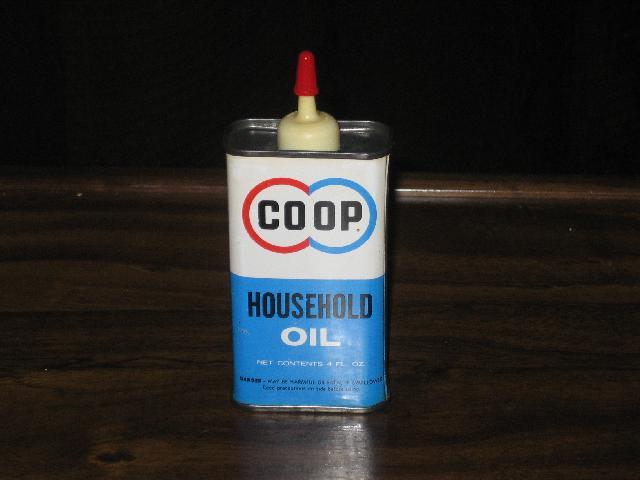 Coop Household Oil, 4 oz. tin, FULL