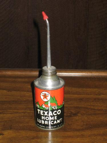 Metal Cans 1963 UNOPENED Texaco Upper Cylinder Lubricant Tins FULL Texaco Inc