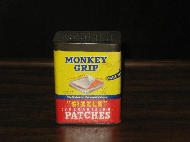 Monkey Grip Sizzle Vulcanizing Patches--VINTAGE!