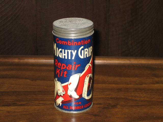 Mighty Grip Repair Kit, EMPTY--VINTAGE!