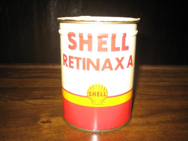 Shell Retinax A grease can, 1 lb, c.1954