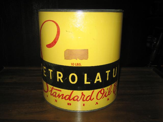 Standard Oil Co Indiana Petrolatum, 10 pounds grease can