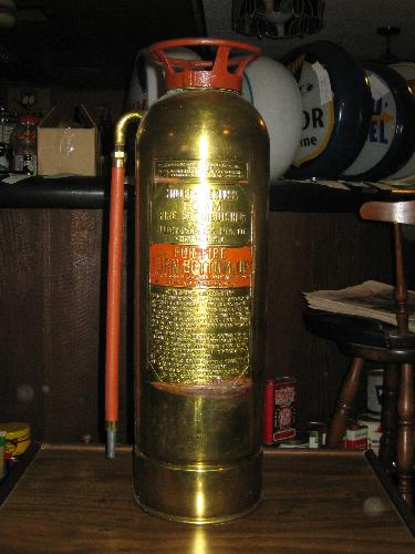 Miller-Peerless Foam Fire Extinguisher, brass, VINTAGE!