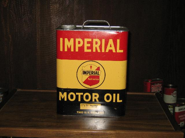 Imperial Motor Oil 2 gallon can, VINTAGE!