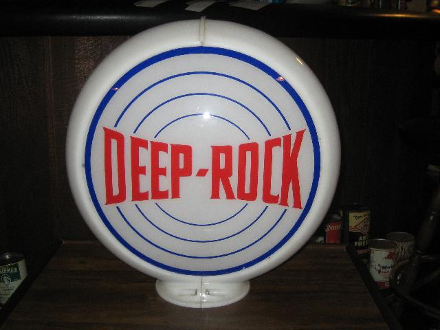 Deep-Rock bullseye pattern globe, from 1930s, VINTAGE!