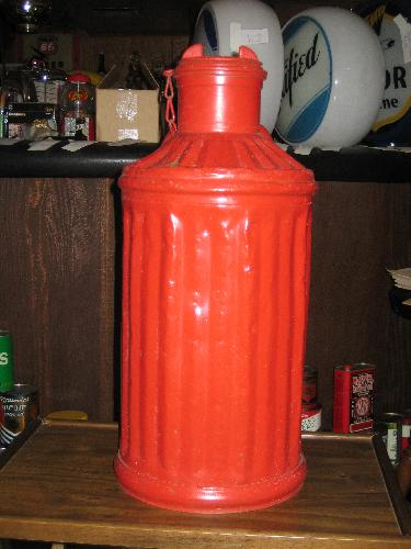 Red 5 gallon bulk oil drum, 1920s VINTAGE