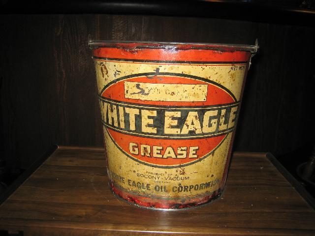 White Eagle Grease, 25 lbs. pail 1920s VINTAGE!