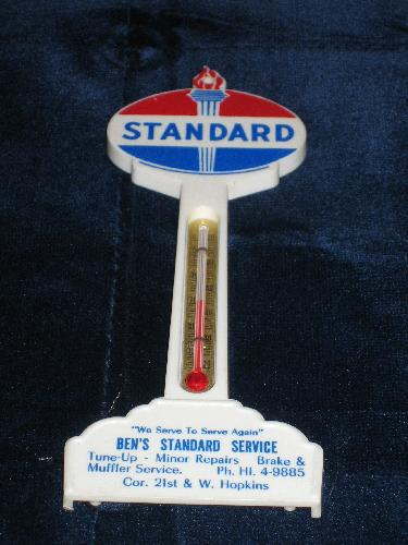 Standard Oil gas station pole thermometer, VINTAGE!