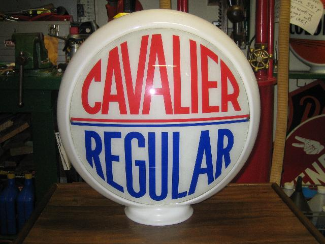 Cavalier Regular gas globe, narrow glass body, VINTAGE!