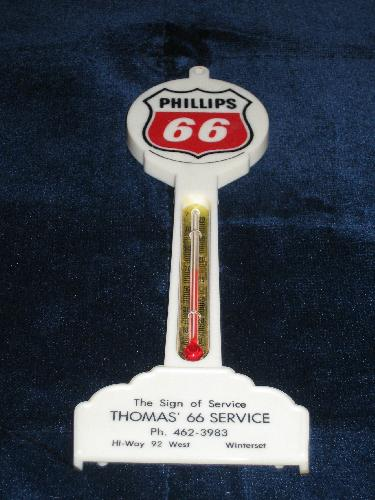 Phillips 66 gas station pole thermometer, VINTAGE!