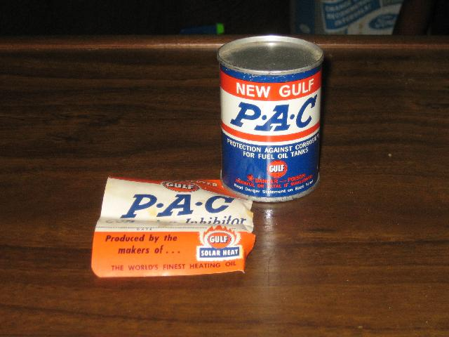 Gulf Pac full tin with paperwork, VINTAGE!