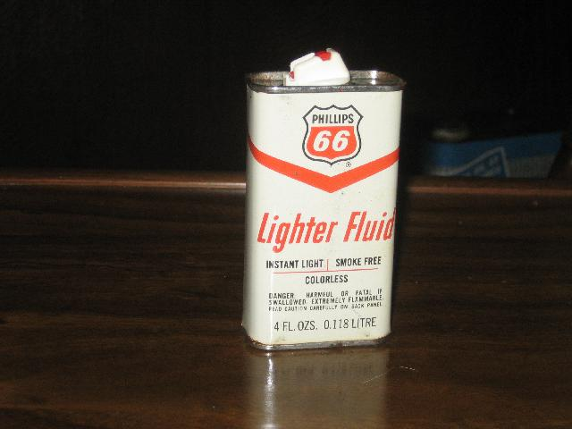 Phillips 66 4 oz lighter fluid tin, VINTAGE!