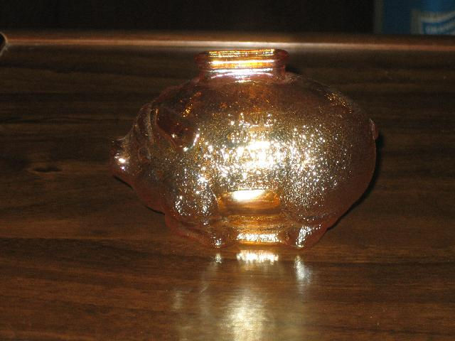 Marathon Glass Piggy Bank, VINTAGE!