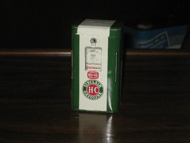 Sinclair HC Pump Tin Bank, VINTAGE!