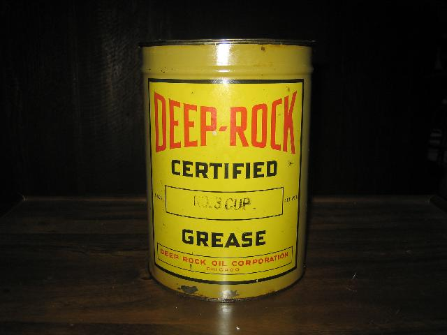 Deep-Rock Certified No. 3 Cup Grease, 1920s-30s, 5 lb, full