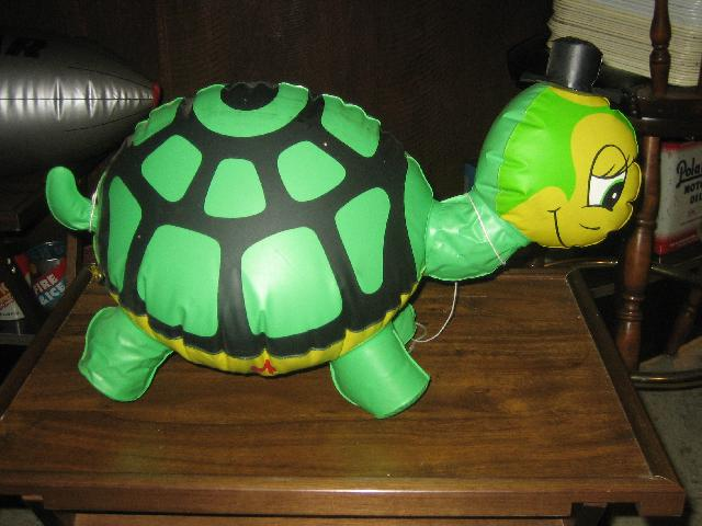 Turtle Wax Turtle blow up display piece 1970s