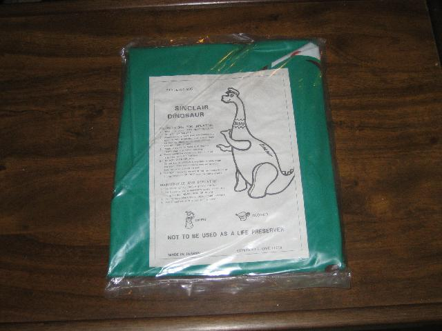 Sinclair Dino upright blow up display piece 1970s