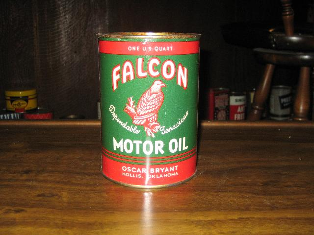 Falcon Motor Oil 1 qt. can, VINTAGE!