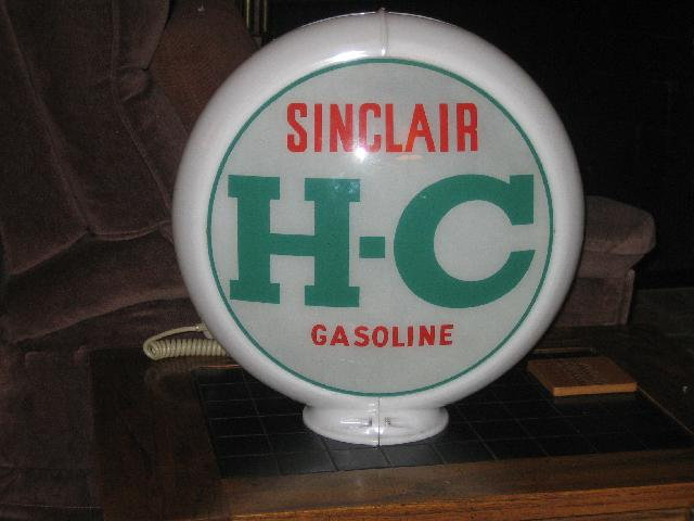 Sinclair HC Gas Globe from late 1940s-early 1950s, VINTAGE!