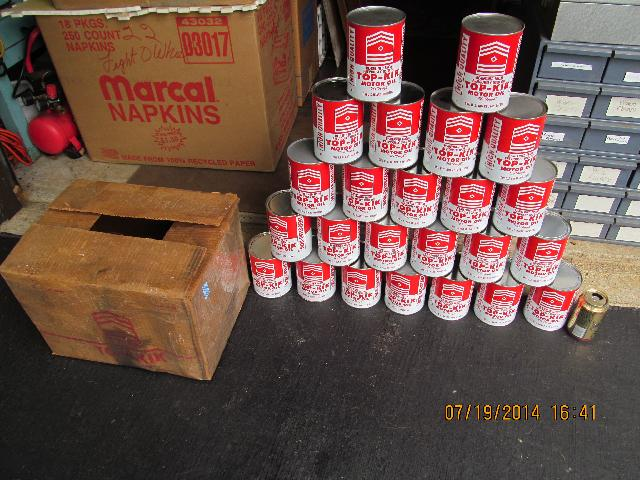 TOP-KIK MOTOR OIL CASE OF 24 NEVER FILLED QT CANS 60S IN BOX