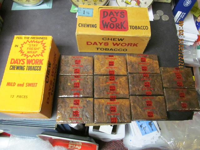 DAYS O WORK CHEWING TOBACCO 2 VINTAGE BOXES ONE SEALED NOS